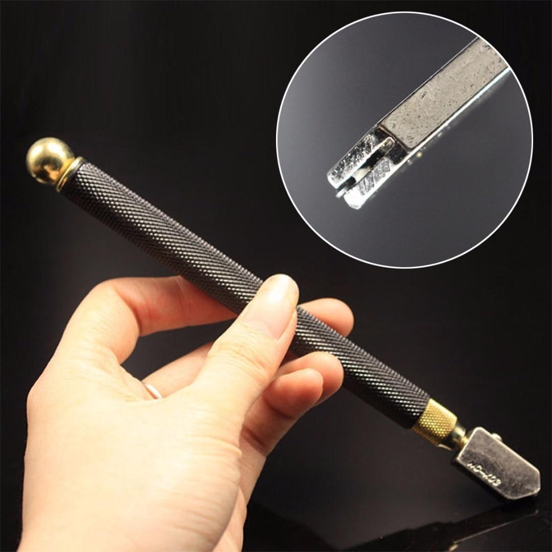 DWZ Professional Oil Feed Glass Cutter Diamond Antislip Metal Handle Cutting Tools
