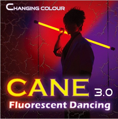Color Changing Cane 3.0 Fluorescent Dancing (Professional Two Color) Stage Magic Tricks Illusions Party Magic Show Comedy
