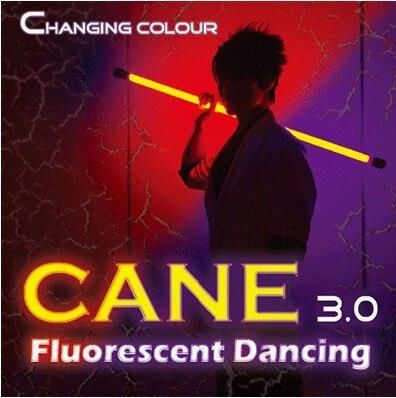 Changement de couleur canne 3.0 danse fluorescente (professionnel deux couleurs) scène tours de magie Illusions partie spectacle de magie comédie