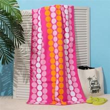 Полотенце пляжное Этель 70*140 см, Круги на розовом, микрофибра 250гр/м2   3936321