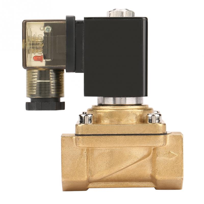 DC12V /DC24V/ AC110V/220V PU220-02 G1/4 Interface 2 Way Direct-acting Electric Solenoid Valve For Water Air Oil