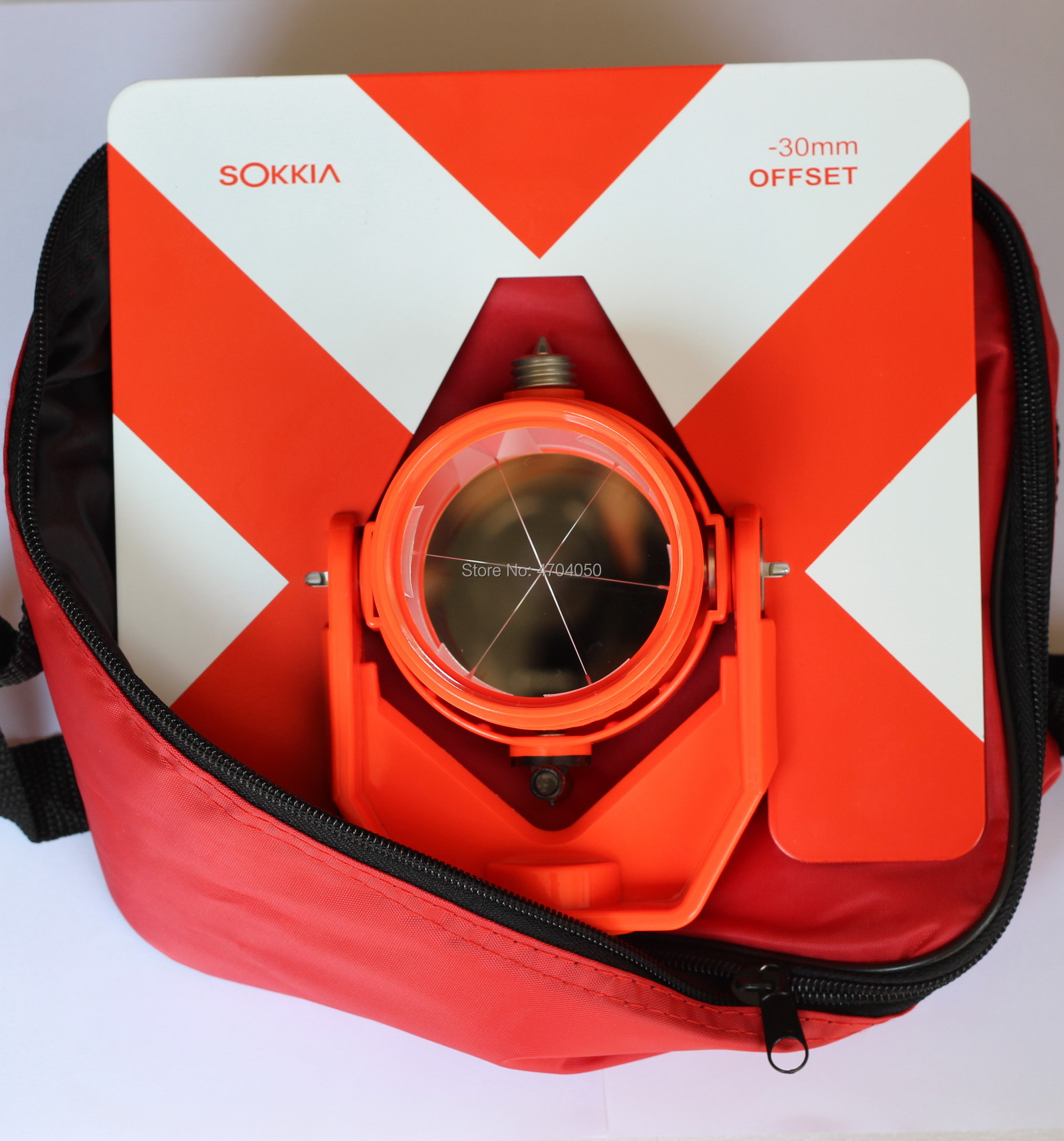 NEW REPLACE SOKKIA RED PRISM AND TARGET Single Tilt Prism Soft Bag for Sokkia total stations