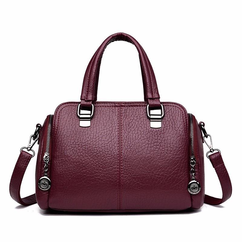 2019 Luxury Handbags Women Bags Designer Brand Sac A Main Female Leather Top-handle Shoulder Bag Bolsas Vintage Hand Bag Ladies