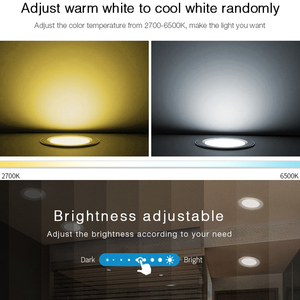 Image 3 - 18W RGB+CCT LED Downlight dimmable AC 220V smart Indoor living room light can Mobile phone APP/Alexa voice/2.4G remote control