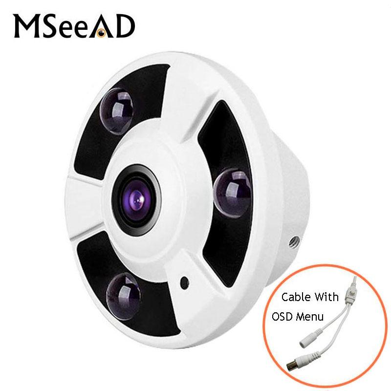 HD 1080P wired AHD Camera 2.0MP 180 Degree Fisheye IR LED camera+OSD key