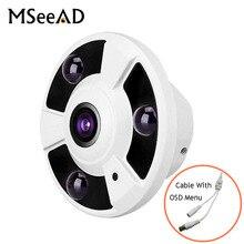 MSeeAD Panorama широкоугольный 1,8 мм рыбий глаз AHD камера видеонаблюдения AHD SONY IMX323 безопасности AHD камера 2MP 4MP 5MP 1080 P OSD HD CVI HD TVI