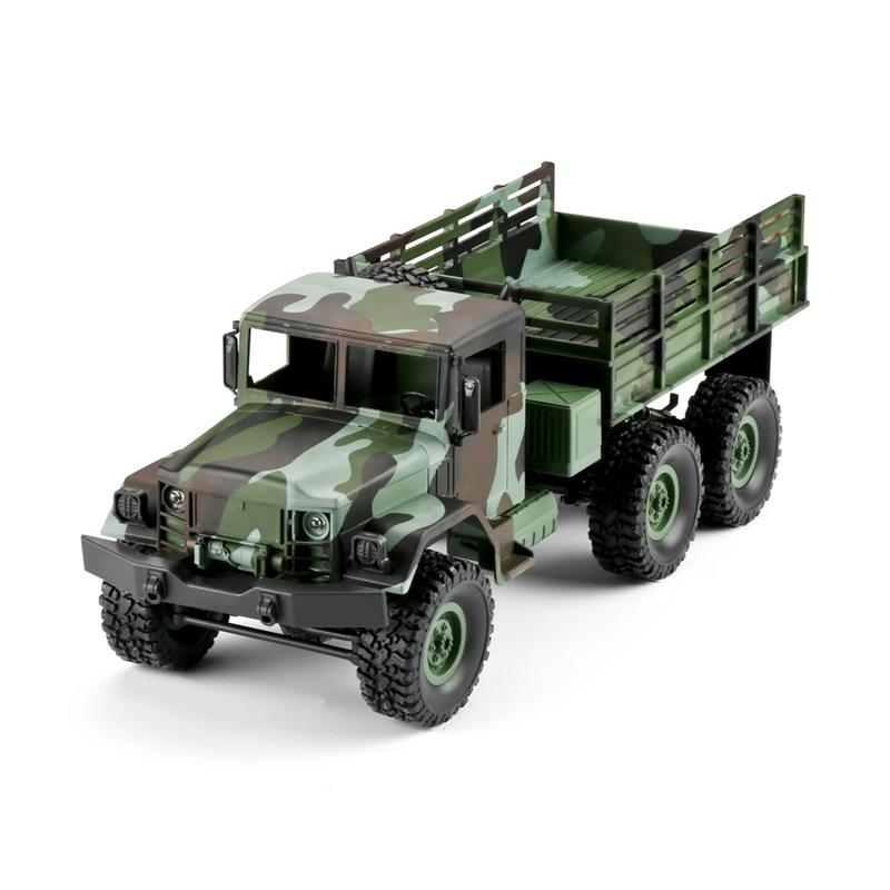 Nouvelle voiture télécommandée 1:16 WPL Six roues motrices escalade tout-terrain Camouflage télécommande voiture jouet pour enfants
