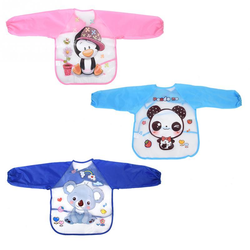Bibs & Burp Cloths Baby Waterproof Bibs Full Sleeve Children Apron Long Sleeve Feeding Smock Bibs Kids Eating Breastplate Kid Baby Cloth Stuff Boys' Baby Clothing