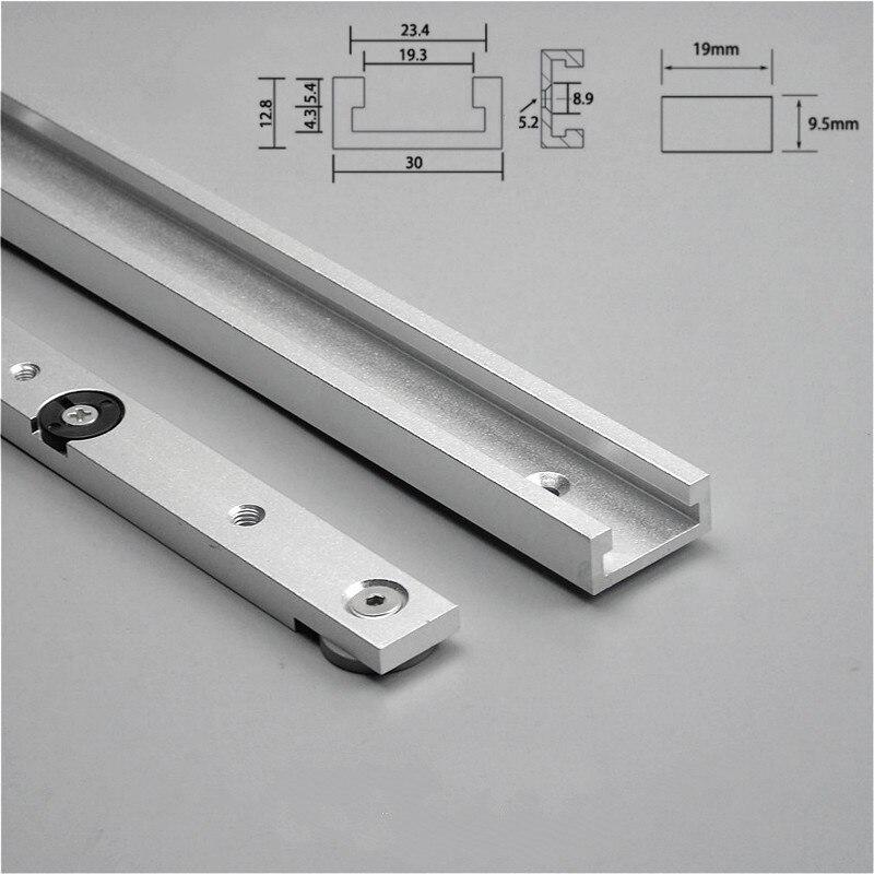 T Track Slider Bar Kit 19 mm x 63 mm-Pack de 2
