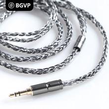 BGVP 2.5mm/3.5mm/2 Pin 400 Dây 6N OCC Bạc Mạ MMCX Tai Nghe Cáp 8 Lõi cân bằng Audiophile Cable đối Shure cho UE