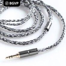 BGVP 2,5mm/3,5mm/2 Pin 400 Draht 6N OCC Silber Überzug MMCX Kopfhörer Kabel 8 Core balancing Audiophile Kabel für Shure für UE