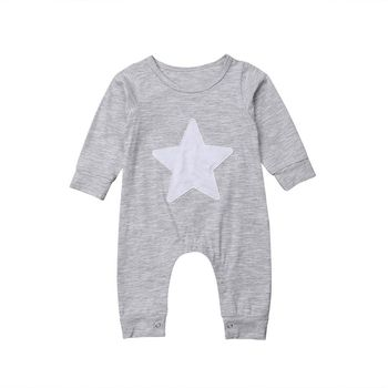 Newborn Baby Boy Girl Long Sleeve Star Romper Autumn Winter Costume Clothes Outfit одежда на маленьких мальчиков