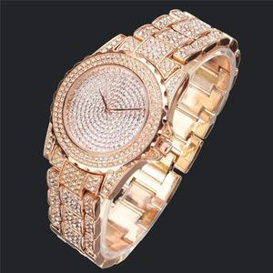 Image 3 - 2020 女性ブリンブリンウォッチ高級アイスアウト時計レディースシルバーダイヤモンド時計ファッションローズゴールドリロイ mujer