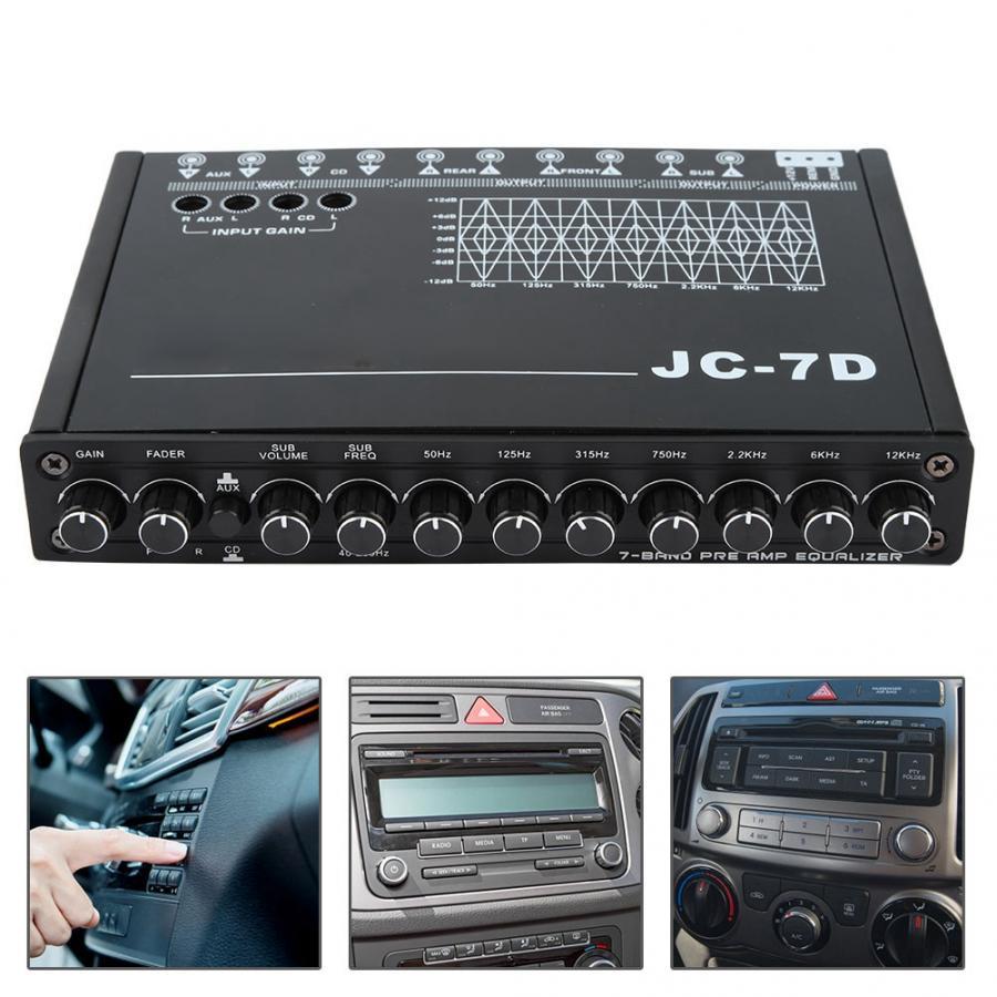 Audio-Control Car-Equalizer JC-7D Car-7-Bands Auto-Accessorie Restoration