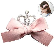 1Pc Cute Childrens Diamond Crown Bow Hair Accessories Decorative Fashion Lovely Clip Barrette For Kids