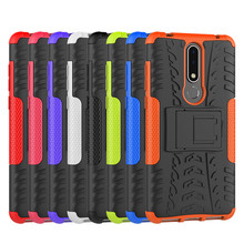 For Nokia 3.1 Plus Heavy Duty Armor Shockproof Hybrid Stand Case X3 TA-1118 Daul Color Cover Defender 6.0inch