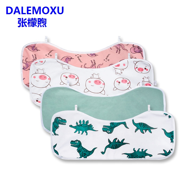 100% Cotton Dinosaur Pig Horse Rectangular Bandana Baby Bib Girl Boy Soft Feeding Infant Anti-Bacterial Waterproof Burp Cloth