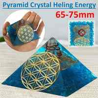 65-75mm Natural Quartz Crystal Pyramid Feng Shui Stone Chakra Ornament Healing Crystal Home Degaussing Mineral Stone Decor New