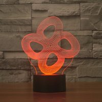 Abstract Shape Touch Table Lamp 7 Colors Changing Desk Lamp 3D Lamp LED Night Light Stereoscopic Illumination