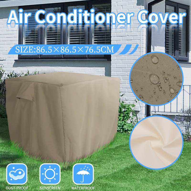86.5x86.5x76.5cm Polyester Air Conditioner Cover Waterproof Outdoor Air Conditioning Protector with Elastic Straps Dust-proof86.5x86.5x76.5cm Polyester Air Conditioner Cover Waterproof Outdoor Air Conditioning Protector with Elastic Straps Dust-proof
