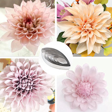 6pcs Stainless Steel Dahlia Pinnata Cav Flower Cutting Mould Petal Designer DIY Soft Polymer Clay Tools Cutter