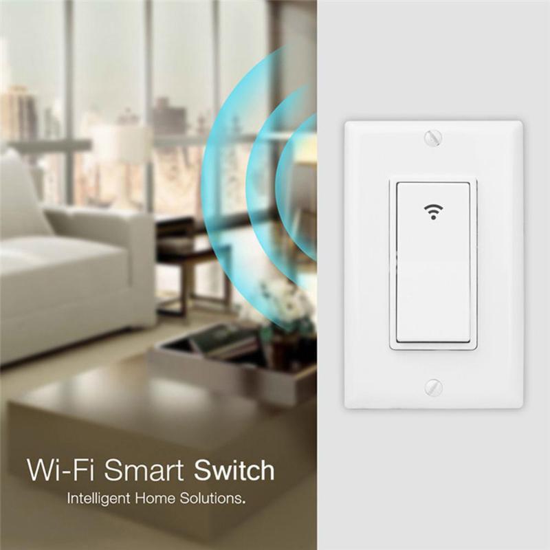 Smart Light Switch Panel Wall Wireless WIFI Light Switch Remote Control For Alexa Google Home IFTTT