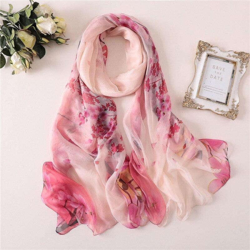 Hot 2019 elegant women   scarf   fashion print large size lady shawls and   wraps   pashmina silk   scarves   beach stoles sunscreen