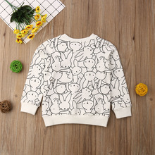 Jumper Clothing Kids Baby Girl Boy Bunny Leopard Print