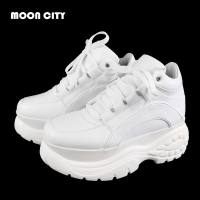 2018 New White Platform Sneaker Winter Femme fashion Thick Bottom Footwear Woman Casual Platform shoes Women's Vulcanize Shoes