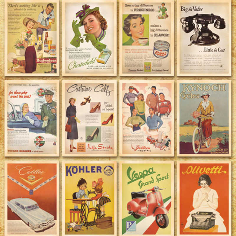32pcs/lot Vintage Classic old Photos Style Postcards Cartoon Post Card Poster Drawing Greeting Gift Theme Collectible Card Set