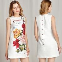 Vestidos corto verano apliques y estampado floral 1