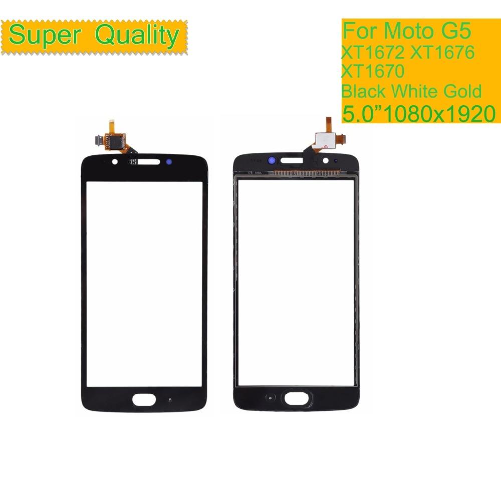 10Pcs lot Touchscreen For Motorola Moto G5 XT1672 XT1676 XT1670 Touch Screen Digitizer Front Glass Panel