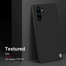NILLKIN Huawei P30 Case Textured Nylon Fiber Hard PC Panel+TPU Frame Back Cover Case For Huawei P30 Pro /P30 Lite