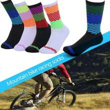 Simple Style Professional Outdoor Cycling Socks Breathable Road Bicycle Socks Individuality Mountain Bike Racing Male Socks cycling stars unisex professional cycling socks run outdoor stocking mountain bike sock breathable top quality socks