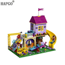 341pcs Friends Series Heratlake City Playground Compatible Legoingly Friends Heartlake 41325 Buliding Blocks Bricks Toys For Kid