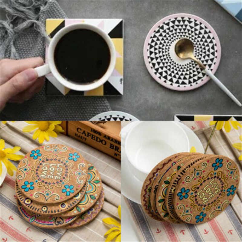 Round Cork Drink Placemats Plain Coffee Wine Cup Mat Tea Craft S