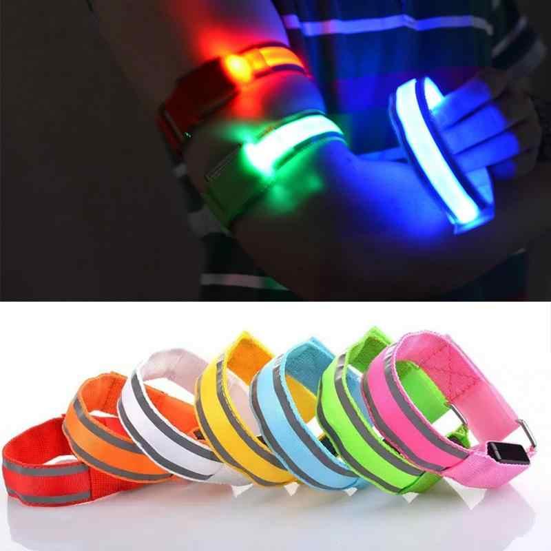 1PC Safety Reflective Arm Wrist Band Belt Strap Night Running Cycling Accs.