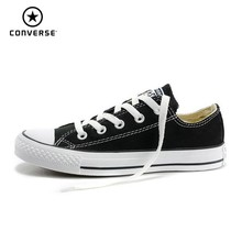 купить CONVERSE All Star Classic Original Canvas Men And Women Breathable Six Color Skateboarding Shoes Low Help Light Sneakers #101001 онлайн