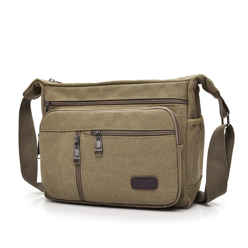 New Arrival Fashion Business Canvas Men Messenger Bags 2018 Crossbody Shoulder Bag Casual Man Sacoche Homme