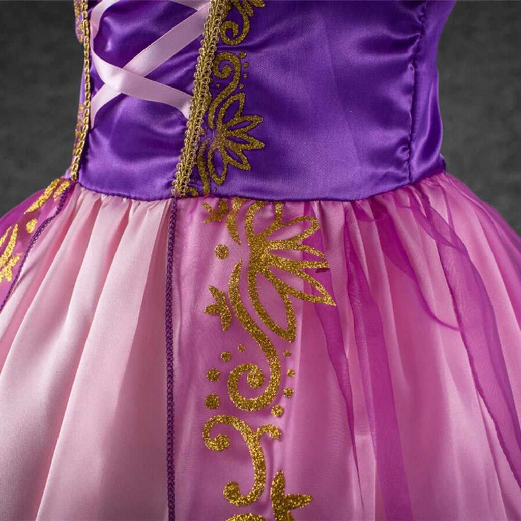 ใหม่เด็กหญิง Cinderella เด็กหิมะขาวเจ้าหญิง Rapunzel Aurora เด็กชุดปาร์ตี้ฮาโลวีนเสื้อผ้าเครื่องแต่งกาย 2019