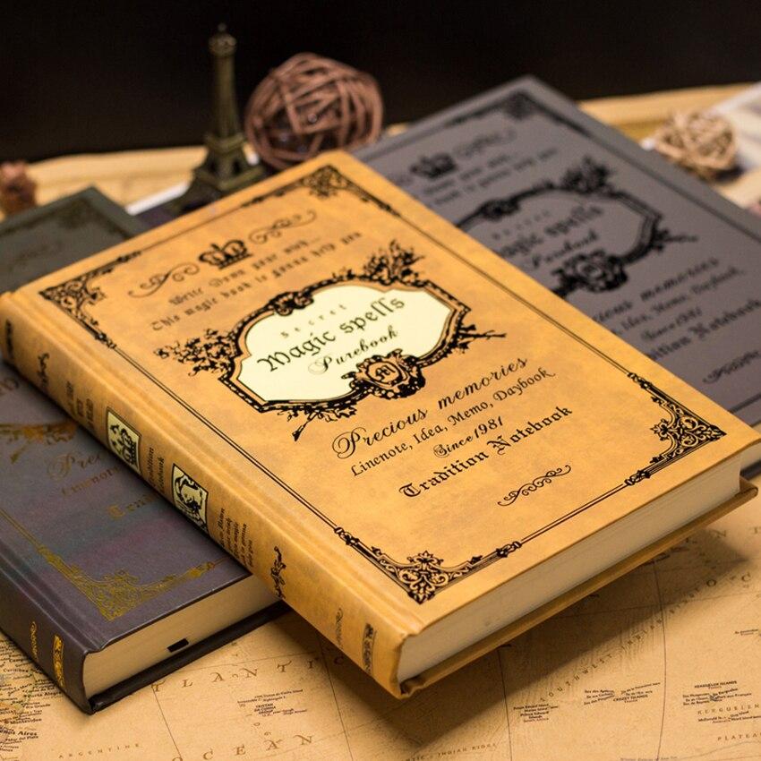 Retro Thicken Notebook Journals For Travelers Creative Planner A5