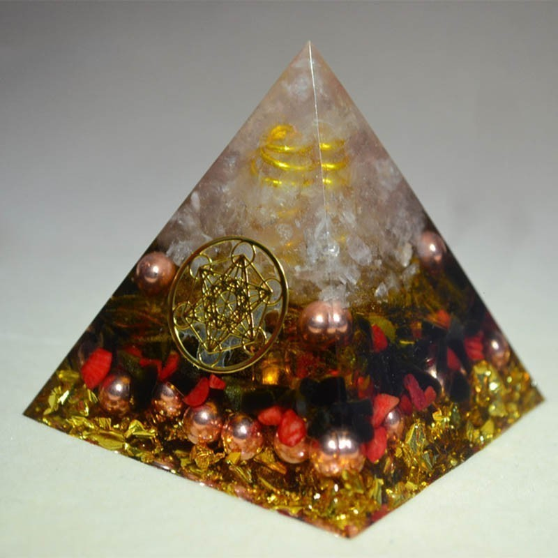 Orgone Energy Converter Orgonite Pyramid Aura Crystal Chakra Soothe The Soul Resin Decorative Craft Jewelry Accumulator Gift