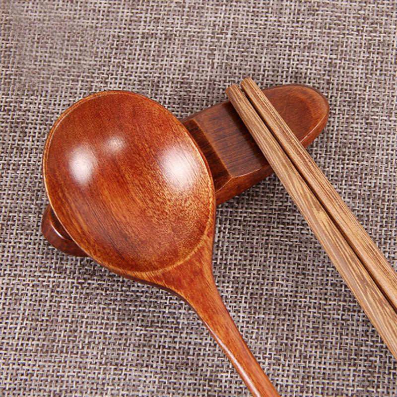 1 шт. симпатичная подставка для китайских палочек подставка Ложка Вилка традиционный неправильный деревянный держатель для палочек стойка рамка кухонный Обеденный Инструмент