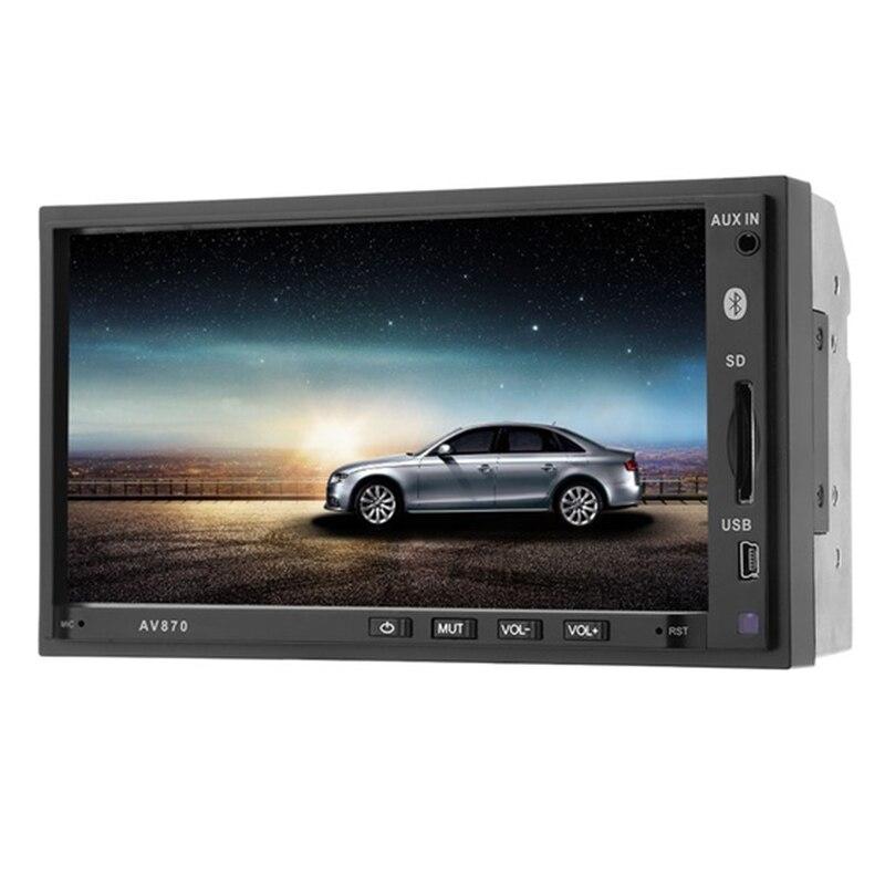 AOVEISE AV870 7 pouces voiture Audio MP5 lecteur voiture Mp4 Mp3 carte Machine Bluetooth Radio inversion RDS Radio