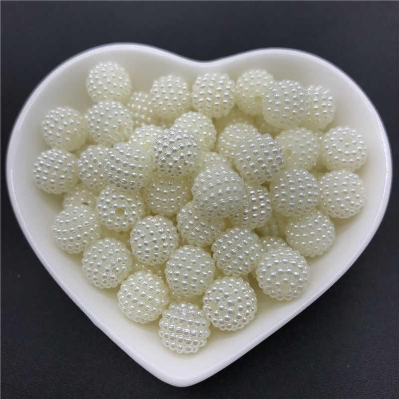 10 Mm Bộ 50 Acrylic Hạt Bayberry Hạt Tròn Rời Hạt Phù Hợp Với Châu Âu Hạt Trang Sức Làm DIY Phụ Kiện