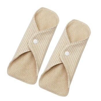 3f79c96bdcf3 2 piezas almohadillas menstruales portátil plegable de algodón ...