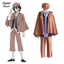 Anime Bungo Stray Dogs Edogawa Ranpo Cosplay Costume Unisex Battle Detective Cloak School Uniform Cloth