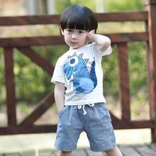 Baby boy clothes suit baby kids children toddler print short sleeve tops pants