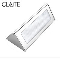 CLAITE 48 LED Outdoor Solar Radar Motion Sensor Wall Lamp Waterproof Security Street Light with 4 Modes Aluminum Alloy