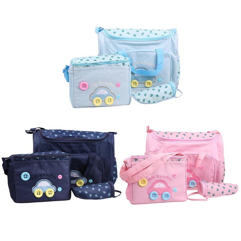 4pcs//Set Waterproof Baby Diaper Nappy Mummy Travel Changing Handbag Shoulder Bag